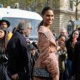 Cindy Bruna - People au défilé Balmain PAP femme printemps / été 2019 à l'hôtel de ville de Paris le 28 septembre 2018. © CVS / Veeren / Bestimage