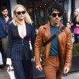 Sophie Turner et son fiancé Joe Jonas quittent le restaurant l'Avenue à Paris le 1er octobre 2018