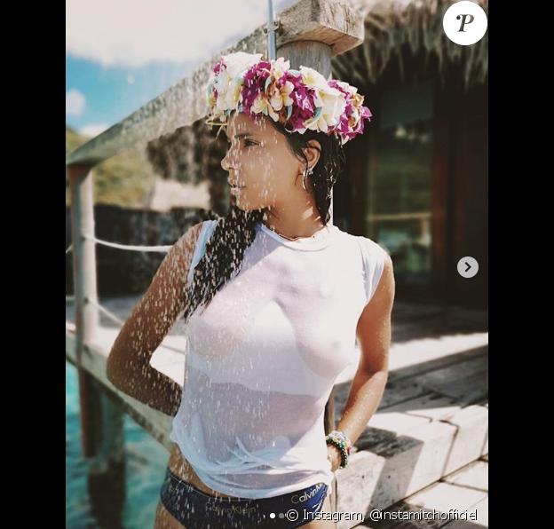 Shy'm très sexy à Tahiti, deux clichés dévoilés le 10 octobre 2018.