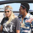 Exclusif - JAY-Z et sa femme Beyoncé arrivent en bateau à Nice, le 17 juillet 2018.