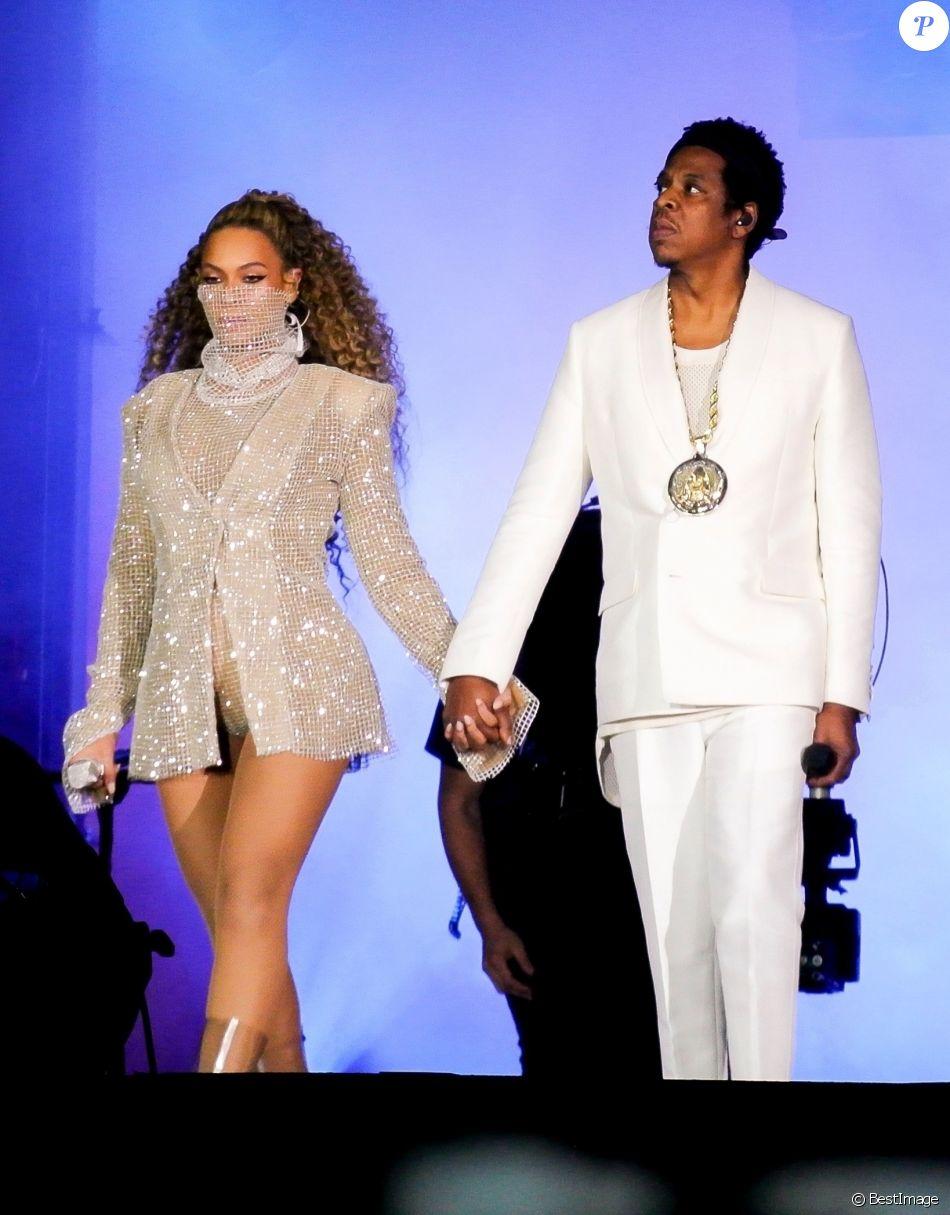 Beyoncé et JAY-Z en concert au Principality Stadium à Cardiff, le 6 juin 2018.