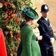 Pippa Middleton (enceinte) avec son frère James et son mari James Matthews - Les invités quittent la chapelle St. George après le mariage de la princesse Eugenie d'York et Jack Brooksbank au château de Windsor, Royaume Uni, le 12 octobre 2018.