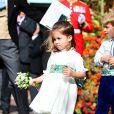 La princesse Charlotte de Cambridge et le prince George de Cambridge - Sorties après la cérémonie de mariage de la princesse Eugenie d'York et Jack Brooksbank en la chapelle Saint-George au château de Windsor le 12 octobre 2018.