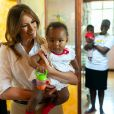 "Melania Trump visite le foyer pour enfants ""The Nest : Children's Home"" à Nairobi, à l'occasion de son voyage au Kenya. Le 5 octobre 2018"