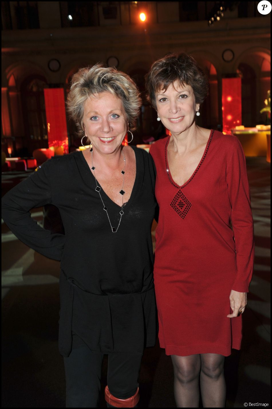 FRANCOISE ET CATHERINE LABORDE - COCKTAIL DE RENTREE DE TF1 AU PALAIS BRONGNIART A PARIS