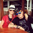 Laeticia et Johnny Hallyday sur Instagram le 19 juillet 2014.