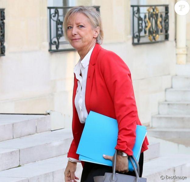 Sophie Cluzel, secrétaire d'Etat, chargée des Personnes handicapées - Arrivées au conseil des ministres au palais de l'Elysée à Paris le 17 octobre 2018. © Stéphane Lemouton / Bestimage