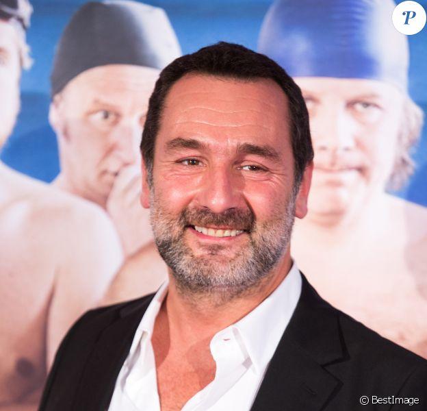 """Gilles Lellouche lors de l'avant première du film """"Le Grand Bain"""" au cinéma UGC De Brouckère, à Bruxelles, Belgique, le 10 octobre 2018."""