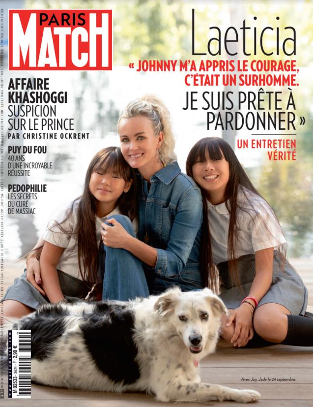 """Couverture du magazine """"Paris Match"""" en kiosque le 24 octobre 2018"""