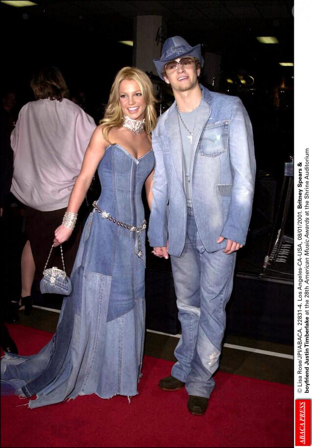 Britney Spears et Justin Timberlake aux American Music Awards. Janvier 2001. © Lisa Rose/JPI/ABACA