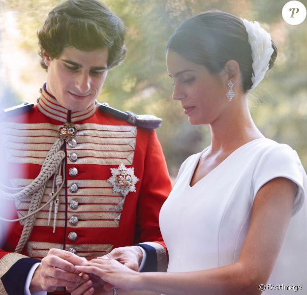Mariage de Fernando Fitz-James Stuart, duc de Huéscar et Sofía Palazuelo au palais de Liria à Madrid le 6 octobre 2018.