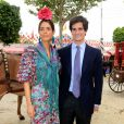 Fernando Fitz-James Stuart (futur duc d'Albe) et Sofía Palazuelo à la foire de Séville le 20 avril 2018.