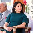 Meghan Markle, duchesse de Sussex (enceinte) assiste à une cérémonie traditionnelle fidjienne à la dernière étape de leur voyage officiel aux Fidji, à Nadi, Fidji, le 25 octobre 2018.
