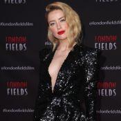 Amber Heard : Affolante en décolleté et robe fendue, loin de Johnny Depp