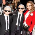 Lily-Rose Depp et les fils de Brad Kroenig, Hudson et Jameson Kroenig, ont assisté à la soirée d'Halloween organisée par V Magazine et Chanel au Jane's Carousel. New York, le 26 octobre 2018.