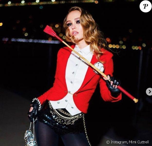 Lily-Rose Depp a assisté à la soirée d'Halloween organisée par V Magazine et Chanel au Jane's Carousel. New York, le 26 octobre 2018.