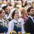 La princesse Madeleine de Suède, la princesse Sofia (Hellqvist) de Suède, le prince Carl Philip de Suède - La famille royale de Suède a pris part aux célébrations de la Fête nationale au musée Skansen à Stockholm, Suède, le 6 juin 2018.