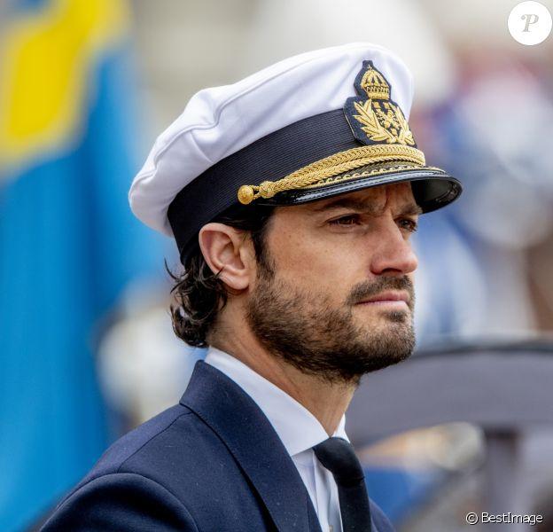 Le prince Carl Philip - Célébration du 72ème anniversaire du roi de Suède au palais royal à Stockholm.