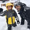 Tony Parker avec son fils Josh. Photo publiée sur Instagram en février 2018.