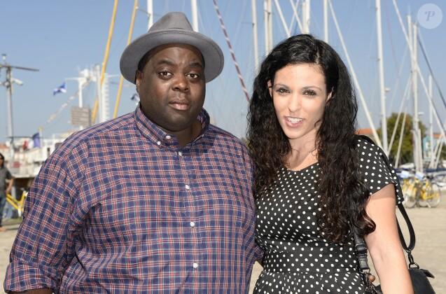 Issa Doumbia et Caroline - 16ème Festival de la Fiction TV à La Rochelle, le 12 septembre 2014.