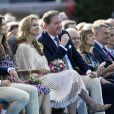 La princesse Madeleine de Suède et son mari Christopher O'Neill à la soirée de gala pour le 41e anniversaire de la princesse héritière Victoria de Suède, le 14 juillet 2018 à Borgholm.