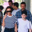 Exclusif - La famille Beckham: David, Victoria, Romeo, Cruz et Harper, se promènent dans le quartier de Bondi à Sydney, le 21 octobre 2018. Merci de flouter le visage des enfants avant publication21/10/2018 - SYDNEY