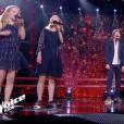 """Abby & Sarah, Alexander et Louna dans """"The Voice Kids 5"""", le 16 novembre 2018."""