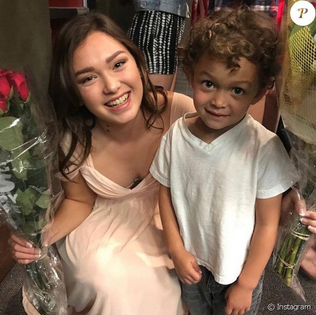 Alaina Housley avec le fils de sa tante Tamera Mowry, Aden. Photo publiée en mars 2017.