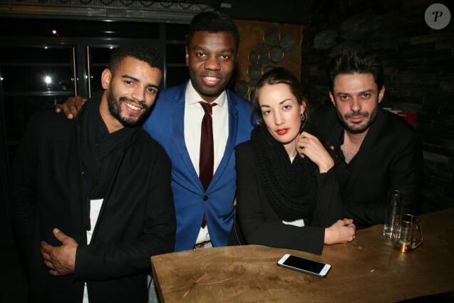 Exclusif - Brahim Zaibat, Jean-Barthèlèmy Bokassa, Juliette Besson, Grègory Bakian - Soirée d'ouverture du restaurant Dad's Den à Paris le 8 novembre 2018.