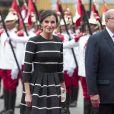 Le roi Felipe VI et la reine Letizia d'Espagne ont été accueillis au Pérou lors de leur visite officielle par le président du Pérou Martin Alberto Vizcarra et sa femme Maribel Diaz Cabello à Lima le 12 novembre 2018.