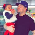 Rob Kardashian et sa fille Dream sur une photo publiée en mars 2018.