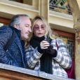 Emmanuelle Béart et guest - 158ème vente aux enchères des vins des Hospices de Beaune, le 18 novembre 2018. © Pierre Perusseau/Bestimage