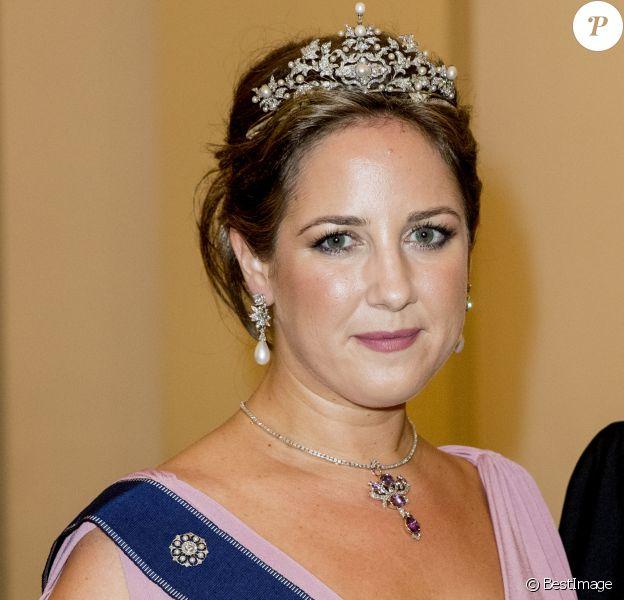 La princesse Theodora de Grèce - Dîner de gala des 50 ans du prince Frederik de Danemark au château de Christiansborg à Copenhague, Danemark, le 26 mai 2018.