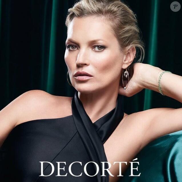 Kate Moss est la directrice artistique de la nouvelle campagne publicitaire de DECORTÉ. Novembre 2018.