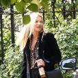 Exclusif - Kate Moss et son compagnon Nikolai von Bismarck à la sortie de leur maison à Londres, Royaume Uni, le 23 septembre 2018.