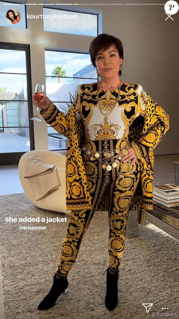 Kourtney Kardashian a fêté Thanksgiving avec sa famille le 22 novembre 2018. Ici sa mère Kris Jenner.