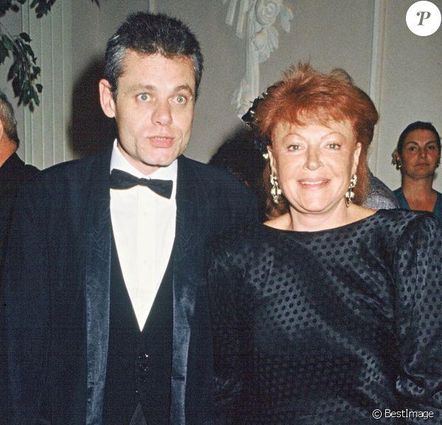 Régine et son fils Lionel Rotcage en 1988.