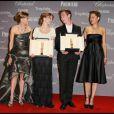 Hilary Swank, Léa Seydoux, David Kross et Marion Cotillard lors de la soirée de remise du Trophée Chopard à Cannes le 18 mai 2009
