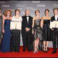 Caroline Gruosi-Scheufele, Léa Seydoux, Gilles Jacob, Hilary Swank, Marion Cotillard et David Kross lors de la soirée de remise du Trophée Chopard à Cannes le 18 mai 2009