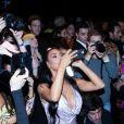 Kim Kardashian, Kanye West, 2 Chainz et Kesha Ward assistent au défilé Versace (pré-collection automne 2019) à l'American Stock Exchange à New York, le 2 décembre 2018.