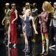 Défilé Versace (pré-collection automne 2019) à l'American Stock Exchange à New York, le 2 décembre 2018.