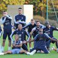 Mamadou Sakho à l'entraînement avec l'équipe de France.