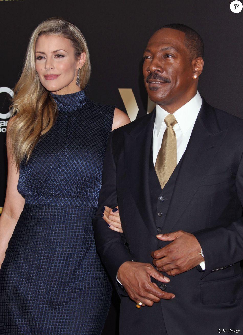 Paige Butcher et son compagnon Eddie Murphy à la 20ème soirée annuelle Hollywood Film Awards à l'hôtel Beverly Hilton dans le quartier de Beverly Hills à Los Angeles, le 6 novembre 2016.