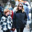Exclusif - Julia Roberts se balade à New York avec ses enfants le 3 décembre 2018.