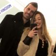 Camille Schneiderlin heureuse avec son mari Morgan le 8 décembre 2018 à Londres.