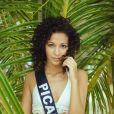 Miss Picardie en maillot de bain lors du voyage Miss France 2019 à l'île Maurice, en novembre 2018.