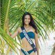 Miss Réunion en maillot de bain lors du voyage Miss France 2019 à l'île Maurice, en novembre 2018.
