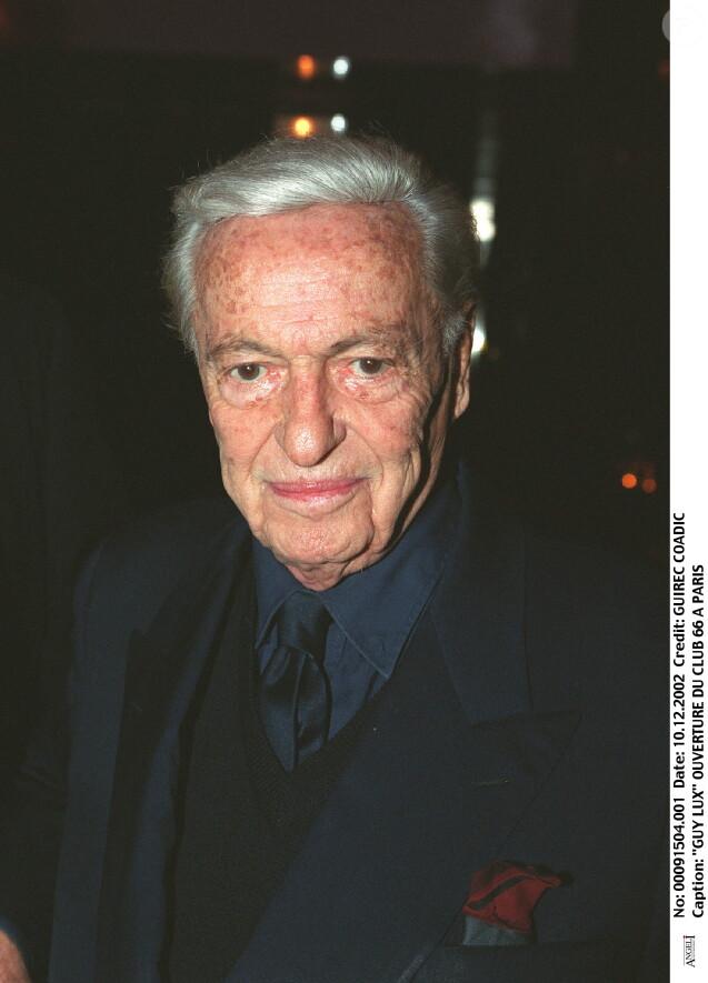 Guy Lux - Ouverture du Club 66 à Paris le 10 décembre 2002.