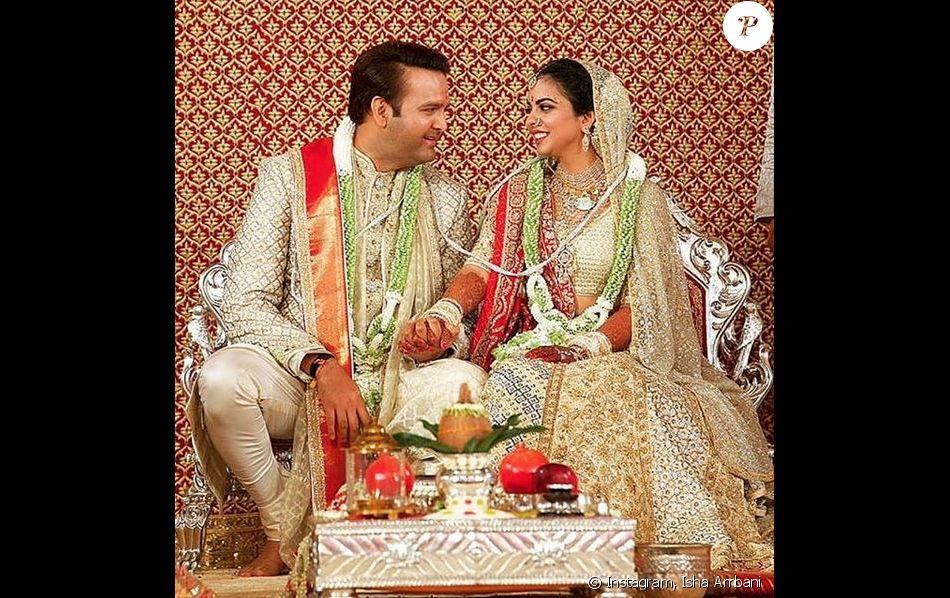 Mariage d'Isha Ambani et Anand Piramal à Bombay. Le 12 décembre 2018.