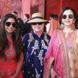Isha Ambani, Hillary Clinton et la mère d'Isha, Nita Ambani. Décembre 2018.